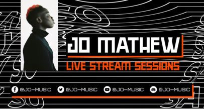 Twitch Banner Template to Promote Live Music Sessions 2523g