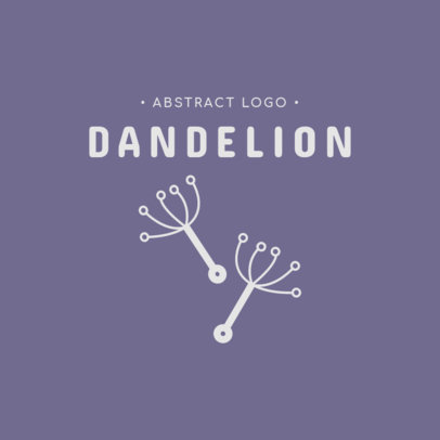Abstract Logo Creator with Dandelion Flying Seeds 1393b-el1