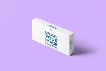 Pills Box Mockup Featuring a Plain Color Backdrop 4058-el1