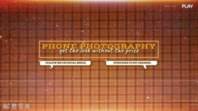 Retro YouTube Banner Maker for Mobile Photography Tips 2519e