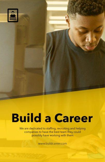 Motivational Flyer Design Template for a Job Recruiting Agency 516d