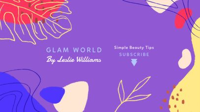 YouTube Banner Creator for a Beauty Channel 2520g