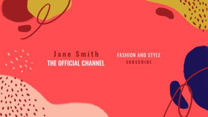 YouTube Banner Maker for a Fashion Lifestyle Channel 2520j