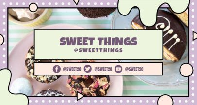 Twitch Banner Creator for a Foodie Channel with Dessert Graphics 2522c