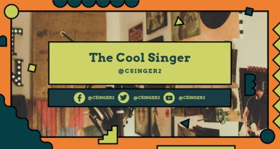 Music-Themed Twitch Banner Design Template for Singers 2522m