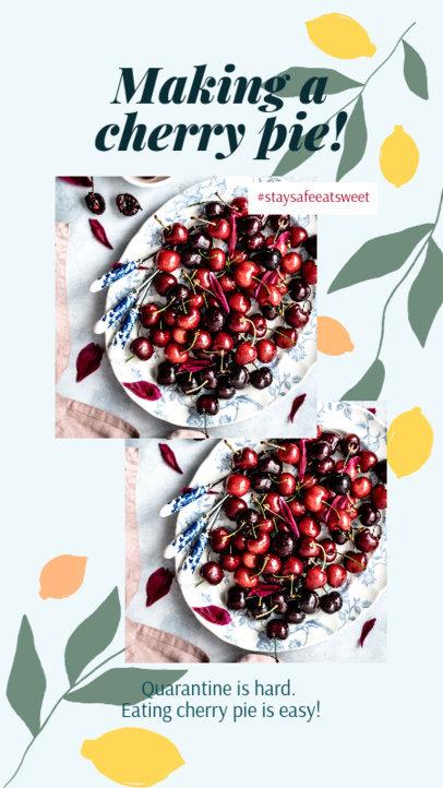Instagram Story Creator for a Cherry Pie Easy Recipe 2525d