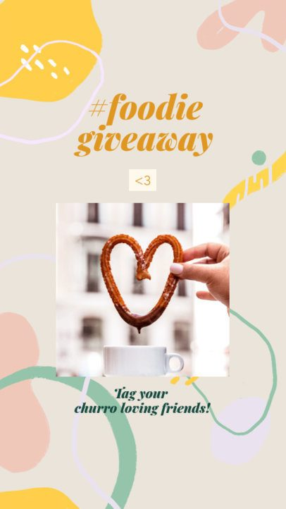 Foodie Instagram Story Maker Featuring a Photo of a Churro 2525g