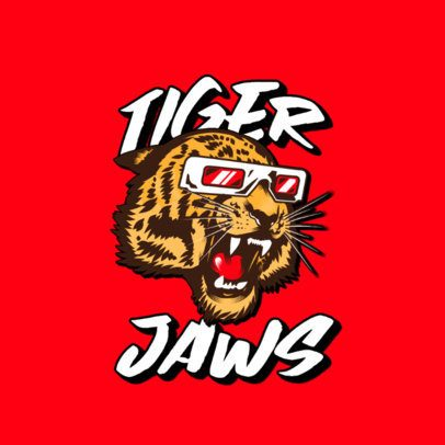Clothing Brand Logo Maker Featuring a Tiger with Swag 3266d