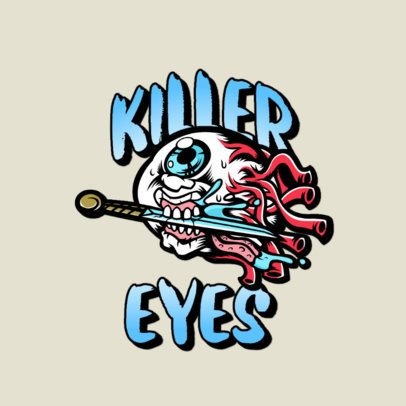 Clothing Brand Logo Generator with the Illustration of a Terrifying Eye 3266n