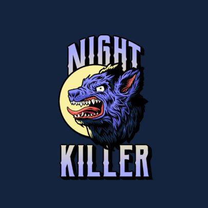 Street Fashion Logo Creator with an Aggressive Wolf 3266h