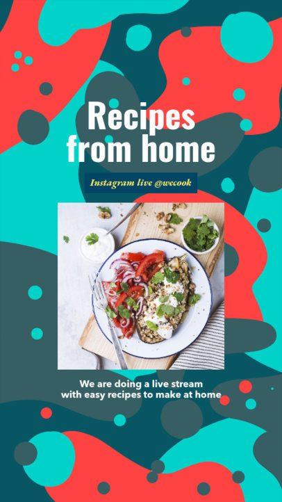 Instagram Story Generator Featuring Homemade Food Recipes 2525c