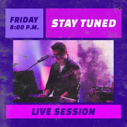 Music Facebook Post Creator for a Live Session 2518d