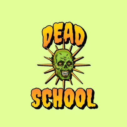 Fun Logo Maker with the Illustration of a Horrifying Zombie Head 3266u