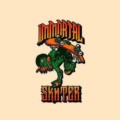 Santa Cruz-Inspired Logo Maker with a Skater Zombie Graphic 3266q