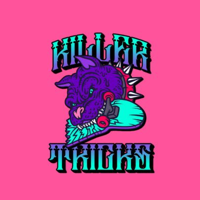 Logo Maker for a Clothing Brand Featuring a Mad Pitbull 3266t