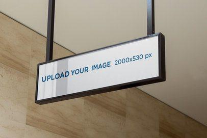 Mockup of a Modern Sign Placed Indoor 4100-el1