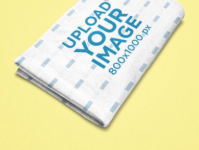 Mockup of a Folded Sublimated Blanket on a Solid Surface 25639