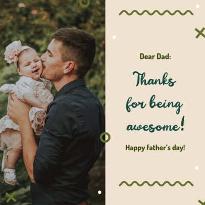 Instagram Post Template with a Heartful Father's Day Message 2545a