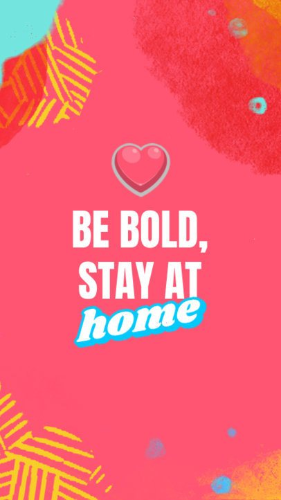 iPhone Wallpaper Design Generator Featuring a Stay at Home Quote 2547d