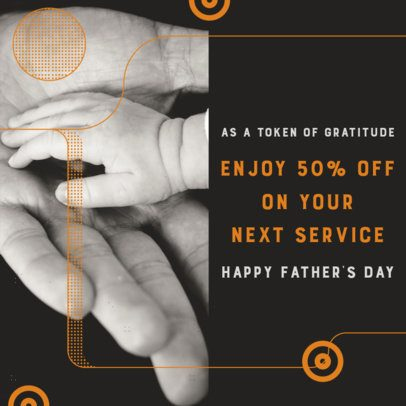 Modern Instagram Post Maker for Father's Day 2545h
