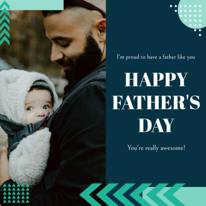Modern Instagram Post Template with a Proud Quote for Father's Day 2545p