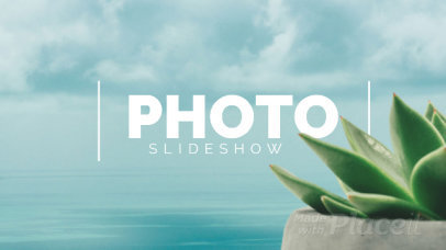 Slideshow Video Maker Featuring a Relaxing Ocean Background 1046-el1