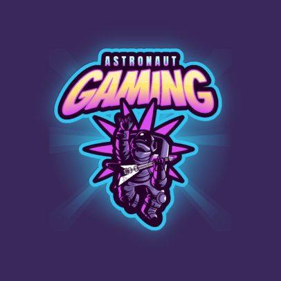 Gaming Logo Maker Featuring a Rocker Astronaut 3274a