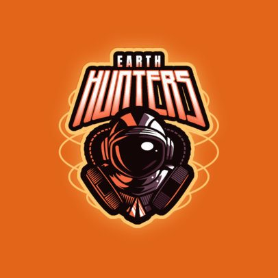 Gaming Logo Maker Featuring The Helmet of an Astronaut 3274f