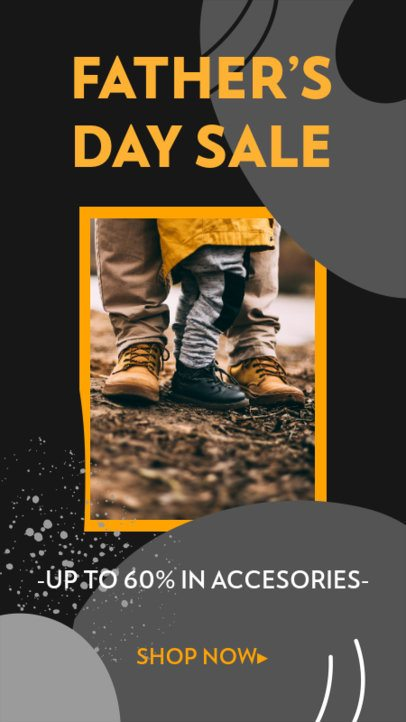 Minimal Instagram Story Template Featuring Father's Day Offers 2544n