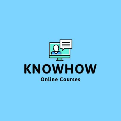 Online Course Logo Maker with a Computer Graphic 1500e-el1