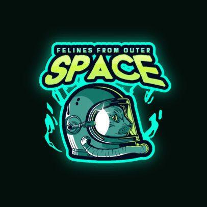 Gaming Logo Creator Featuring a Spaceman Helmet 3274c