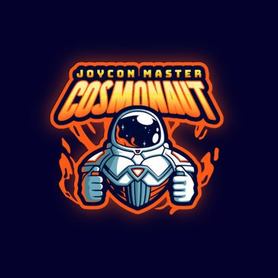Gaming Logo Template Featuring an Illustrated Cosmonaut 3274l