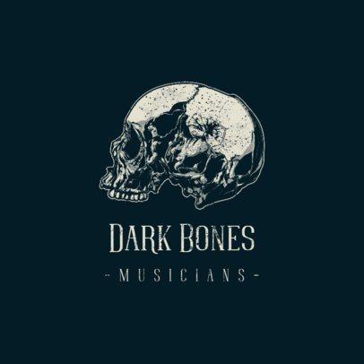 Skull Logo Generator for Musicians 1632a-el1