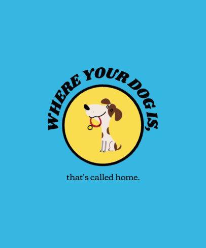Cute T-Shirt Design Maker Featuring Dog Graphics 1540-el1