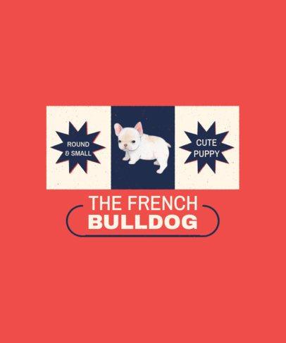 T-Shirt Design Maker of a Flag with a French Bulldog Illustration 1521c-el1