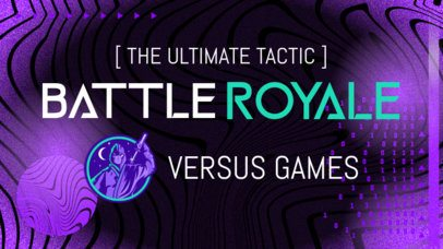 Facebook Thumbnail for a Gaming Channel Based on Battle Royale 2561g