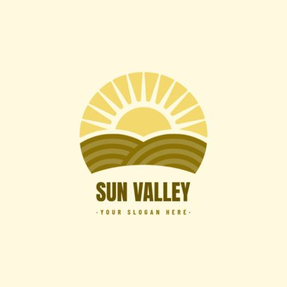 Logo Creator for an Organic Products Brand with a Sunrise Round Icon 1588a-el1
