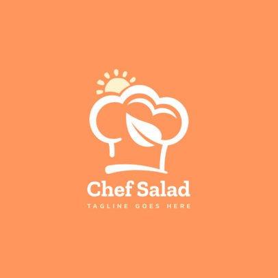 Organic Food Restaurant Logo Creator with a Chef's Hat Icon 1588b-el1