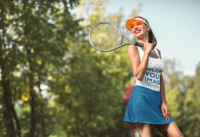 Tank Top Mockup of a Woman with a Tennis Racket 34371-r-el2