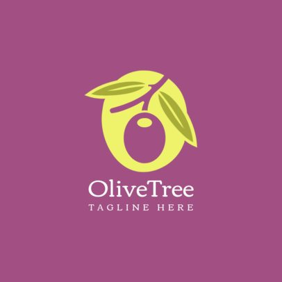 Logo Template for an Organic Food Brand with an Olive Graphic 1588d-el1