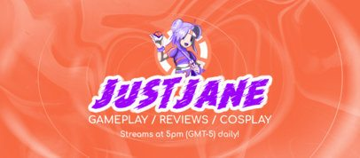 Facebook Cover Maker for Gameplay Reviews Featuring an Anime Character 2560k