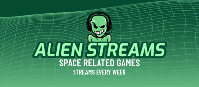 Facebook Cover Design Generator for Gaming Streamers Featuring an Alien Clipart 2560d