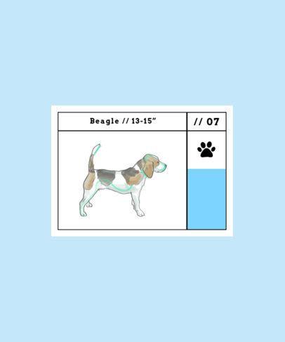 Illustrated T-Shirt Design Maker Featuring a Cute Beagle 1515c-el1