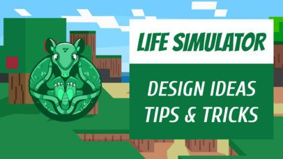 YouTube Thumbnail Template Featuring a Fantasy Creature Graphic 2555i