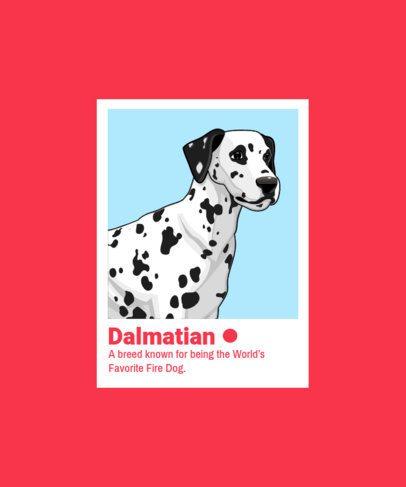 Illustrated T-Shirt Design Maker of a Dalmatian 1548a-el1
