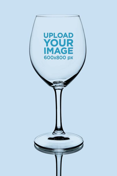 Wine Glass Mockup Featuring a Solid Color Backdrop 36446-r-el2