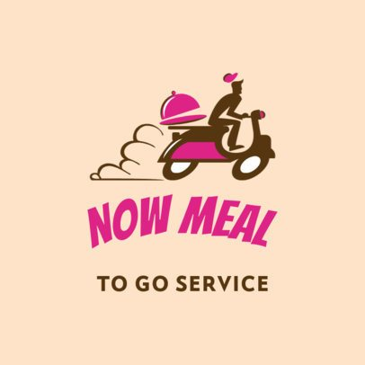 Logo Generator for a Food Delivery App Featuring a Courier Graphic 3298i