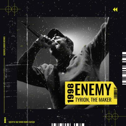 Album Cover Design Template for Emerging Artists 2585