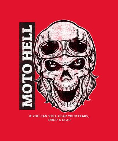T-Shirt Design Generator Featuring a Skull with a Biker Helmet 1720b-el1