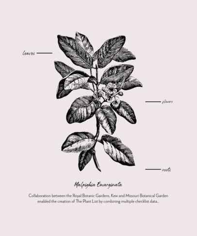 T-Shirt Design Generator Featuring Engraved Botanical Graphics 1661-el1